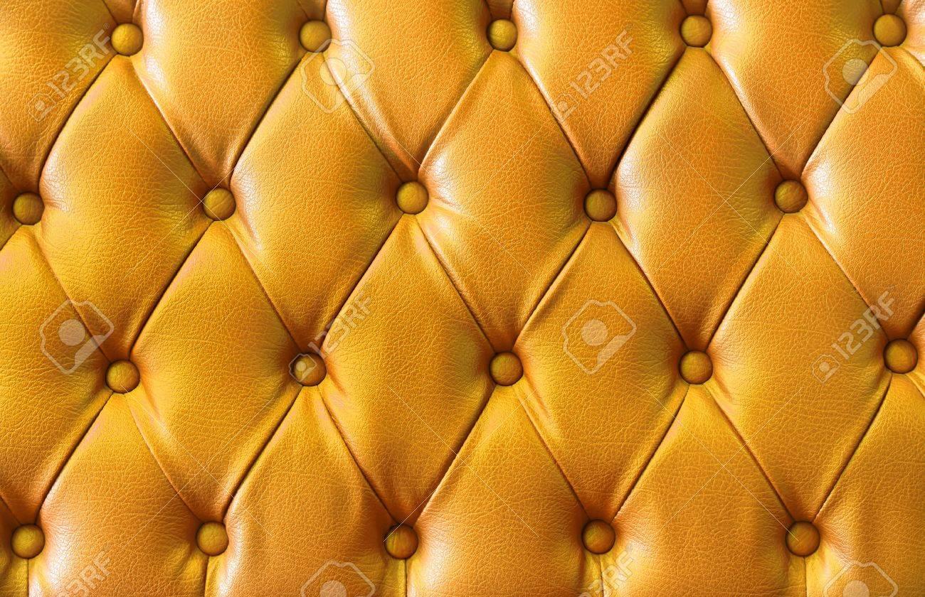 background image of plush yellow leather Stock Photo - 11957088