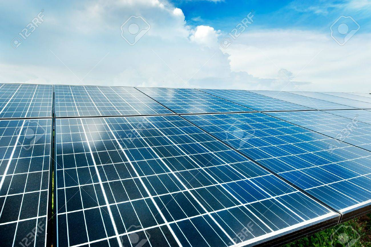 Solar power station top view Stock Photo - 12380751