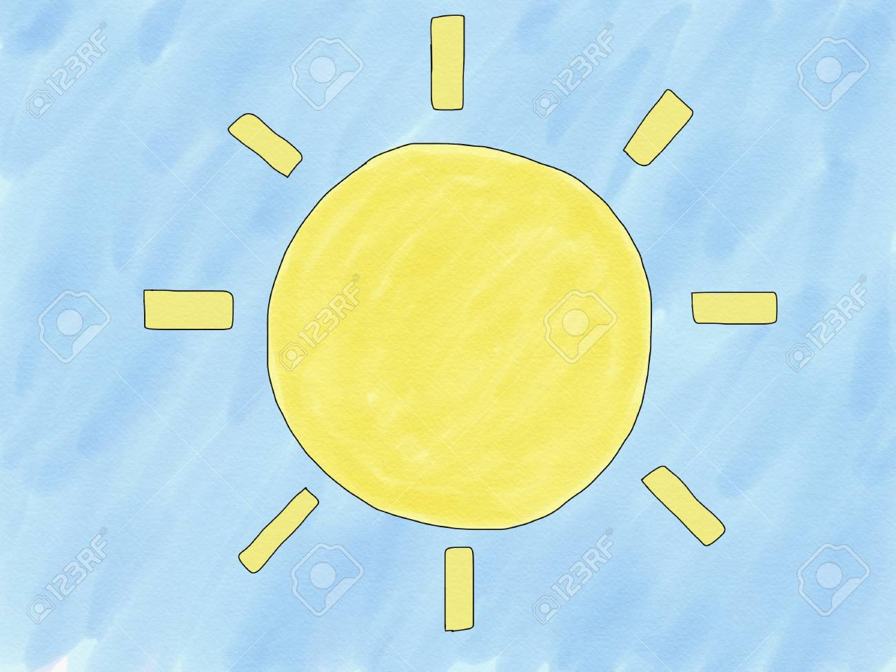 How To Draw The Sun Digital Art