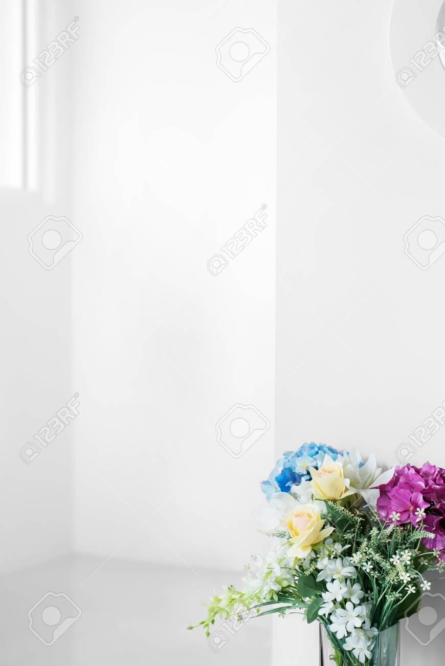 Immagini Stock Sfondo Bianco Fiore Con Spazio Vuoto Vuoto Per Il