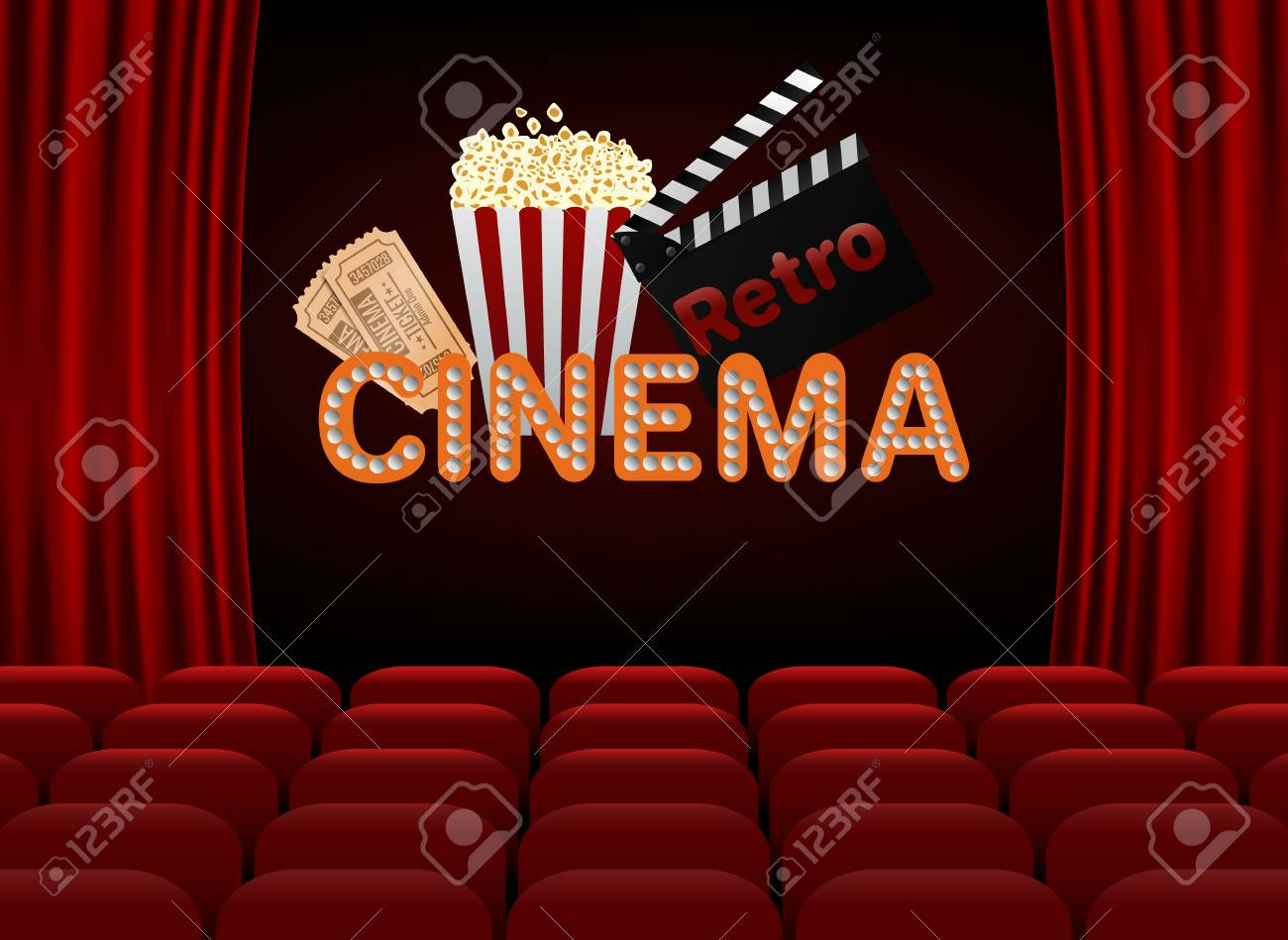 Movie Premiere Poster Design Vector Template Banner For Show Royalty Free Cliparts Vectors And Stock Illustration Image 84642964