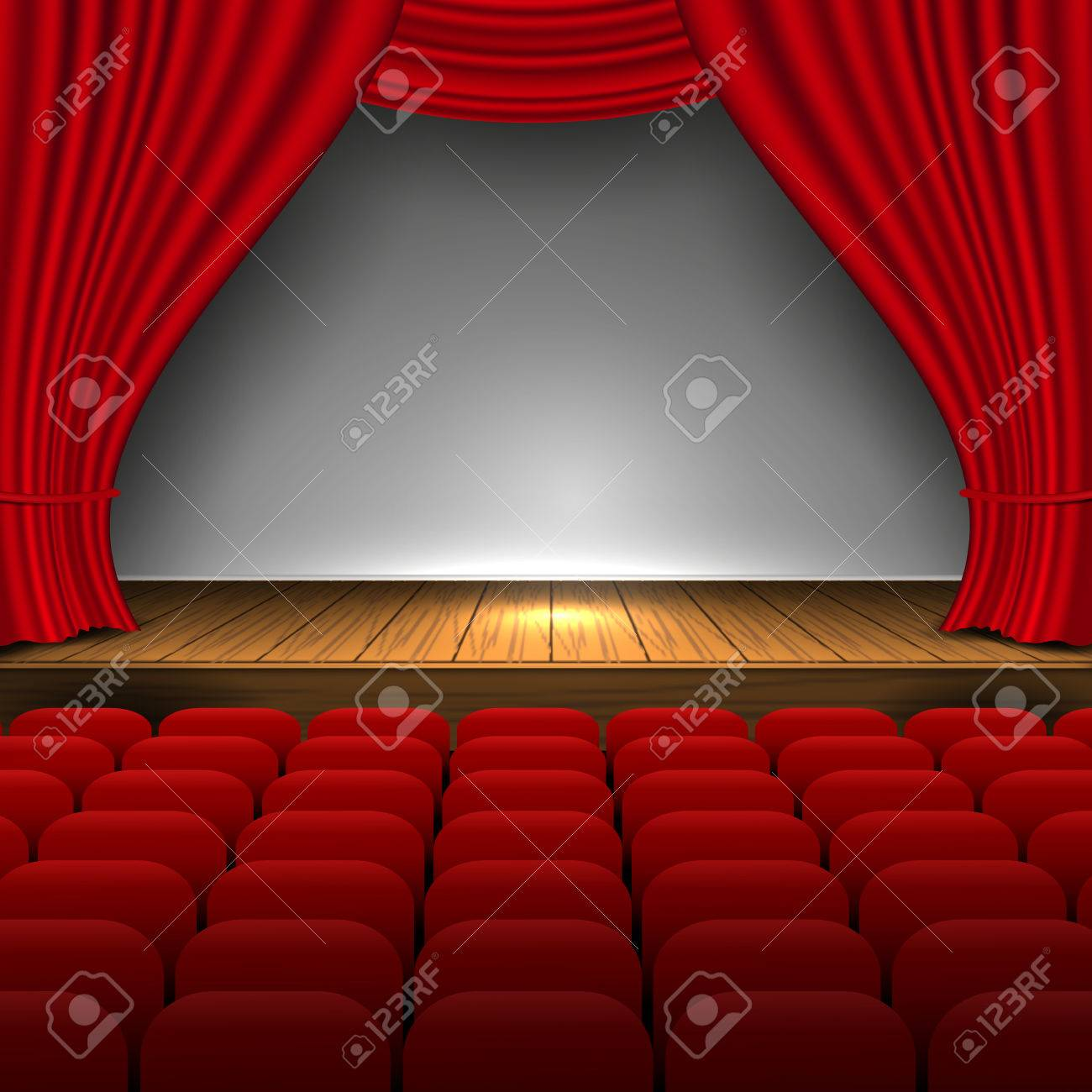 Open Premium Red Curtains Theater Background Movie Presentation ...