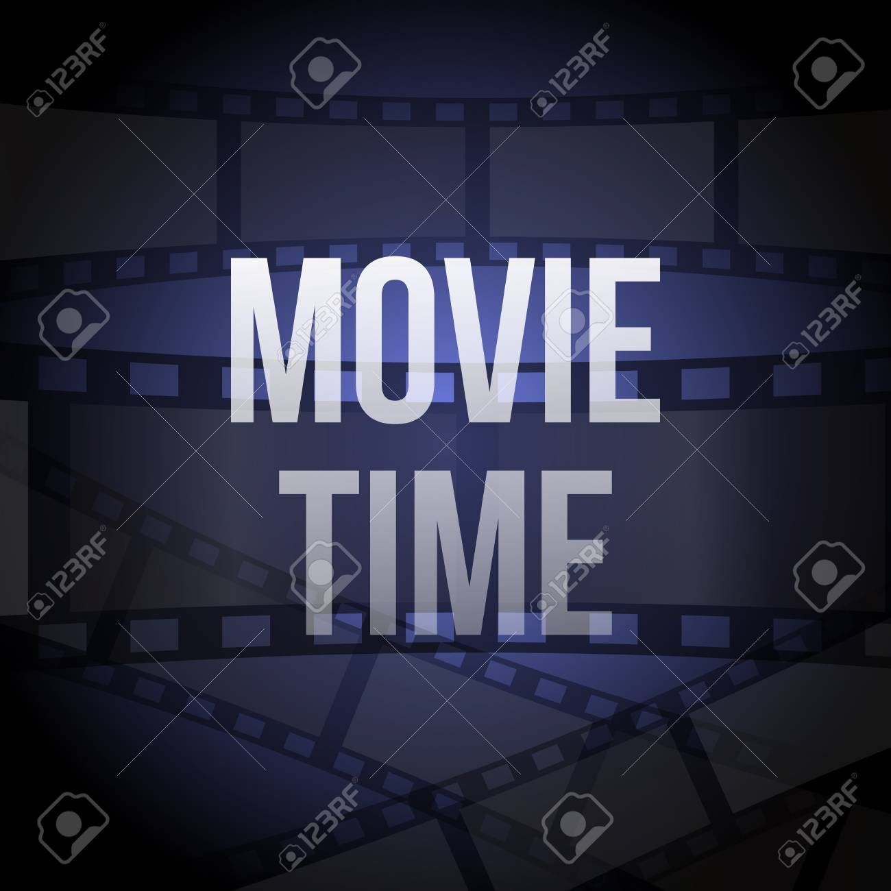 Cinema Vector Poster Design Template Movie Time Background Banner
