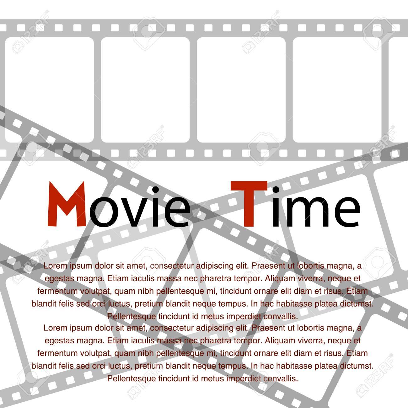 cinema movie poster design template time background banner