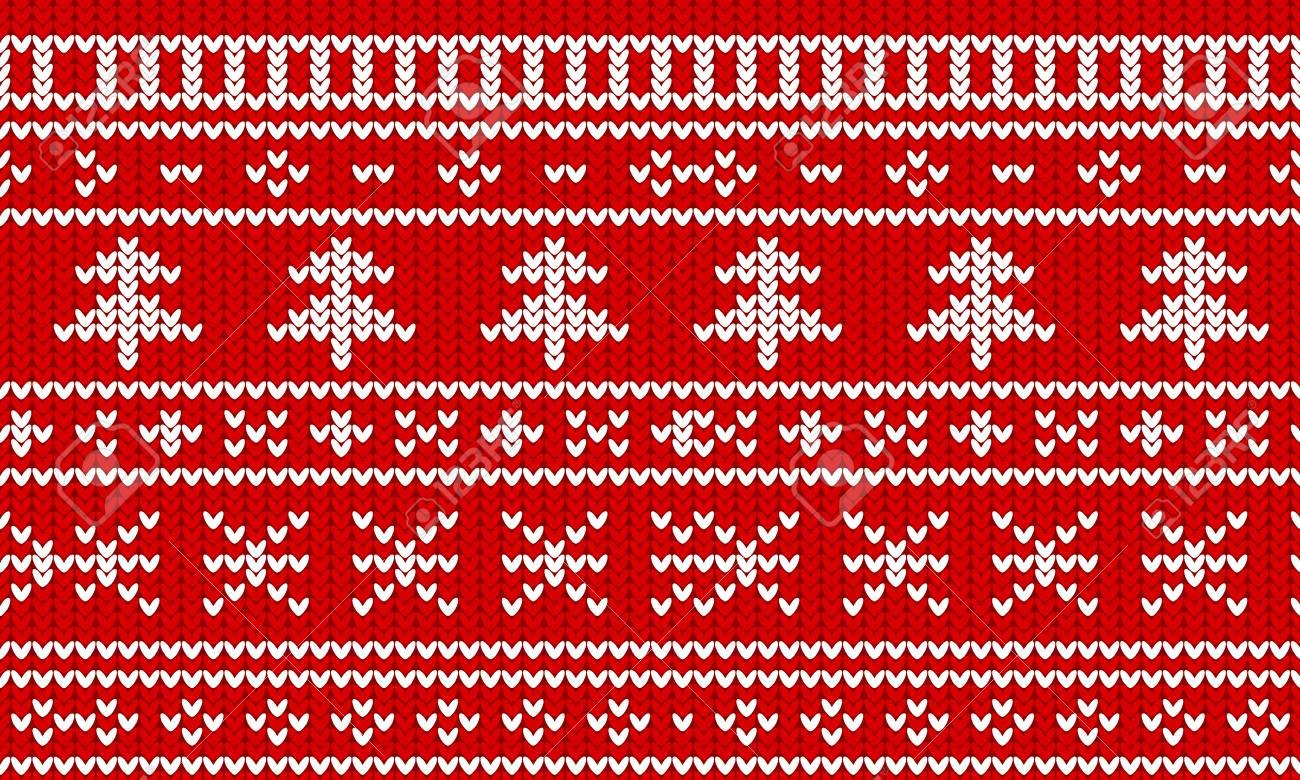 Christmas Sweater Pattern.Stock Illustration