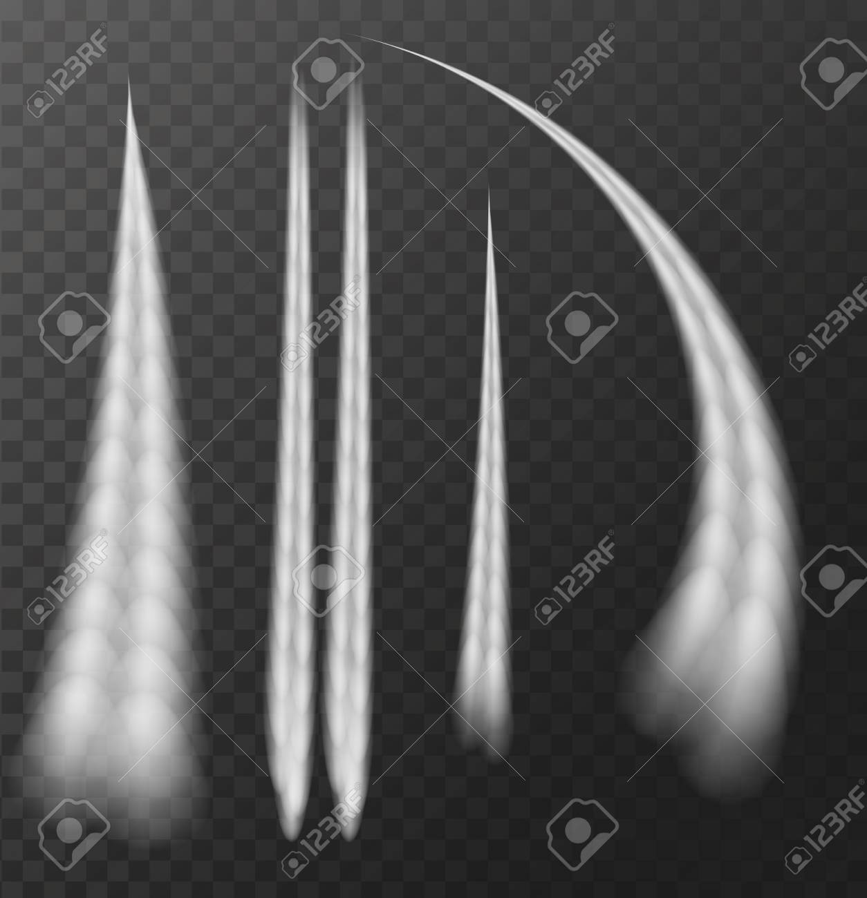 Airplane condensation trail Isolated on transparent background. Vector Illustration - 97794901
