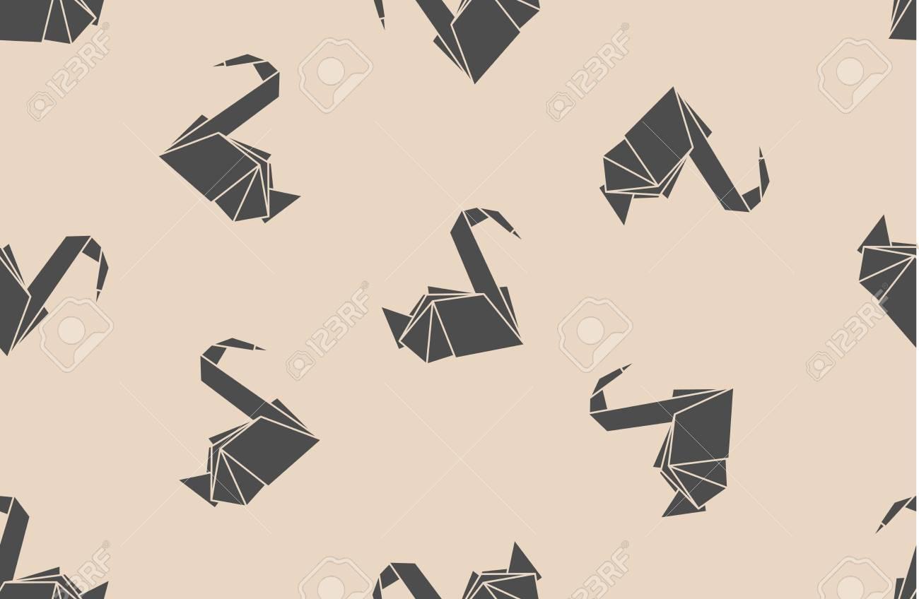 Seamless Pattern Papier Japonais Grues En Origami Peut Tre Utilis Pour La Page Web De Milieux Textures Fond Sur Les Cartes Visite Ou Des Affiches