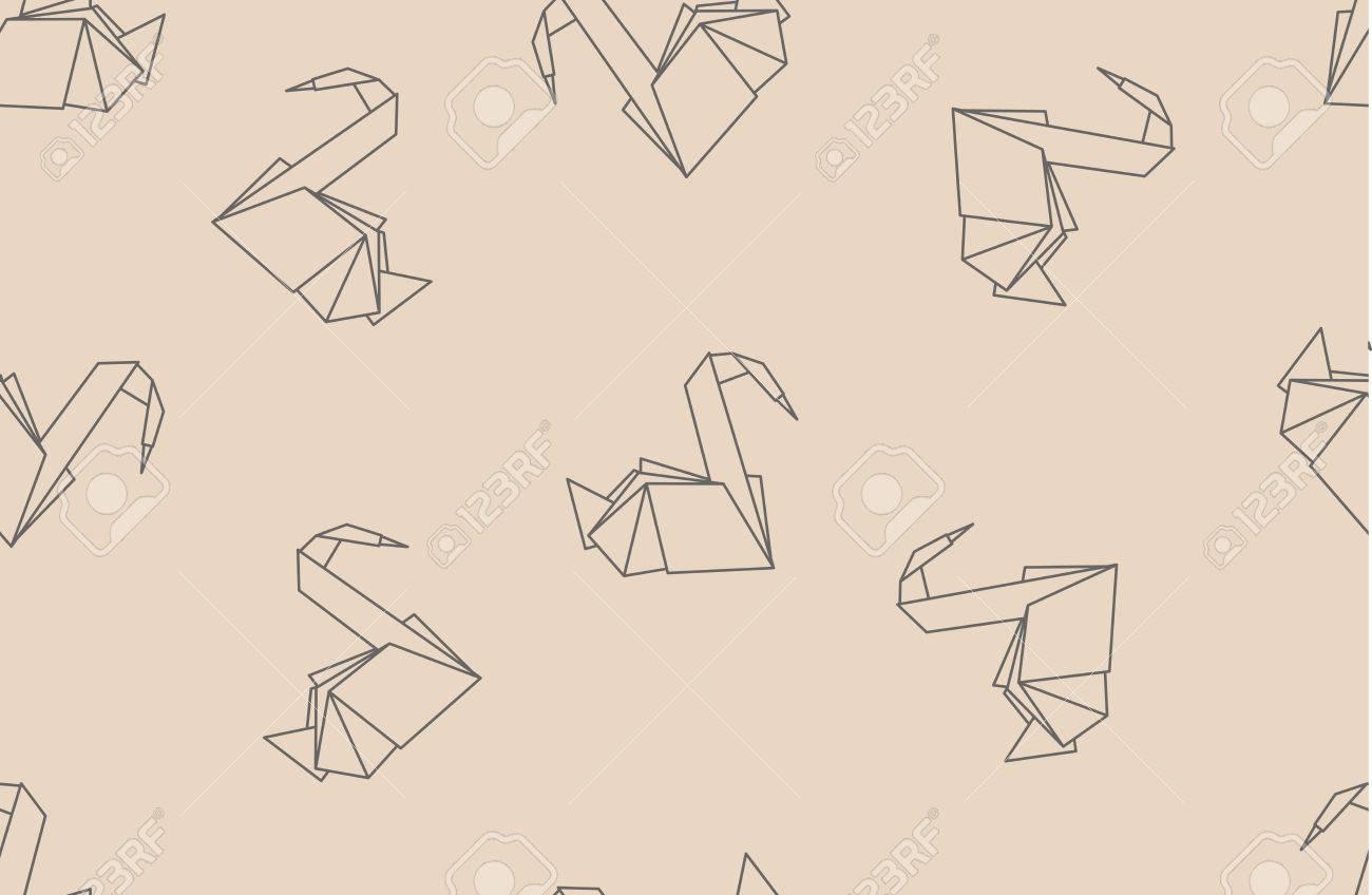 Papel Del Origami Japonés Grúas Sin Patrón. Puede Ser Utilizado Para ...