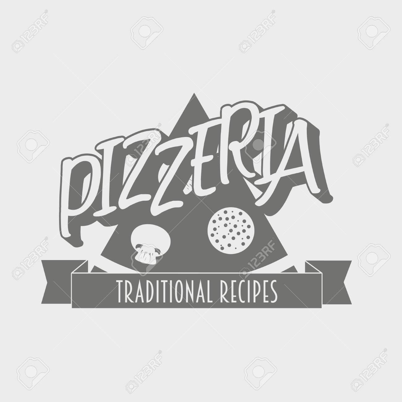 Label Pizzeria Vintage Badge Ou Lment De Conception Peut Tre