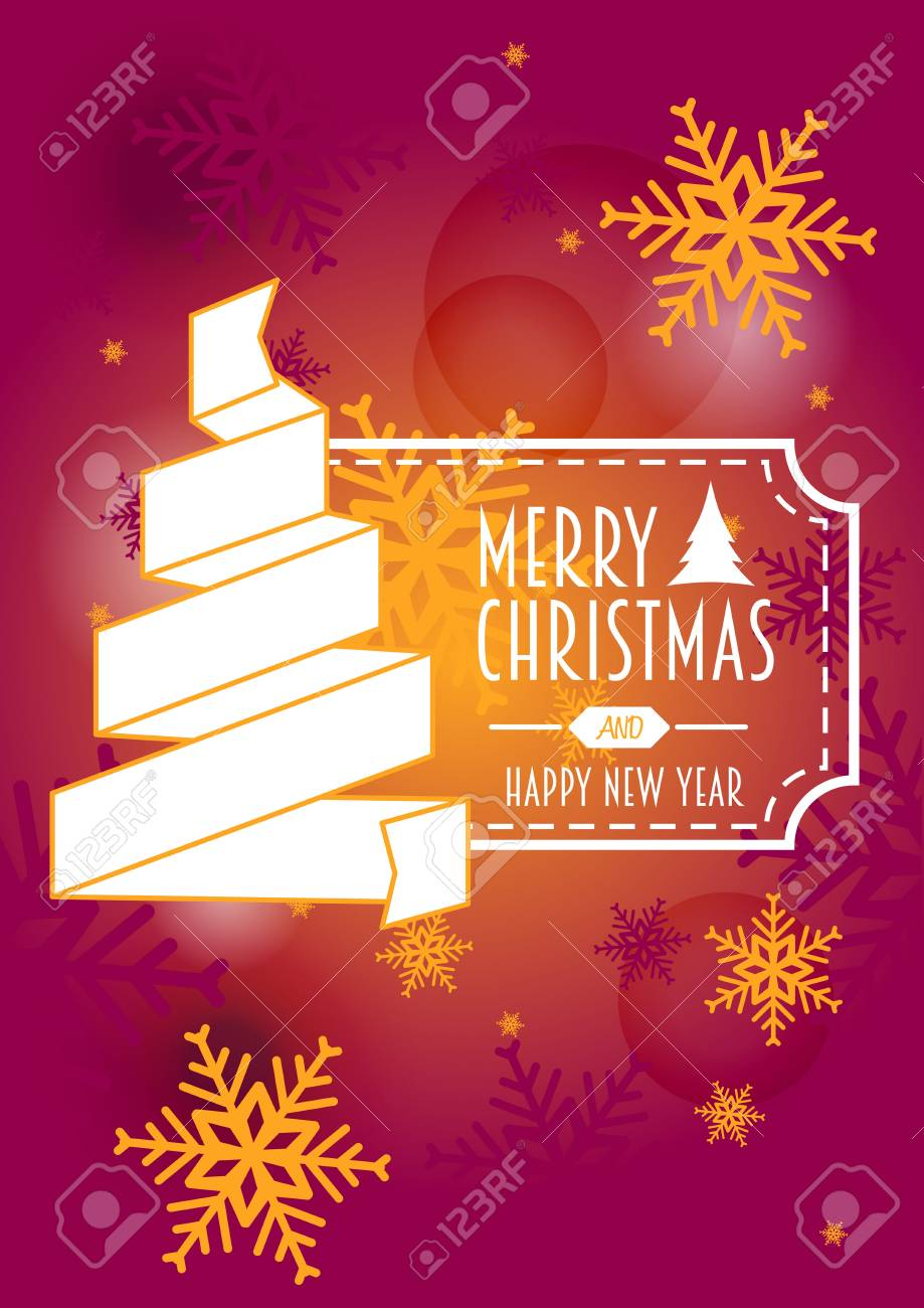 merry christmas and happy new year template of card or invitation stock vector 48515360