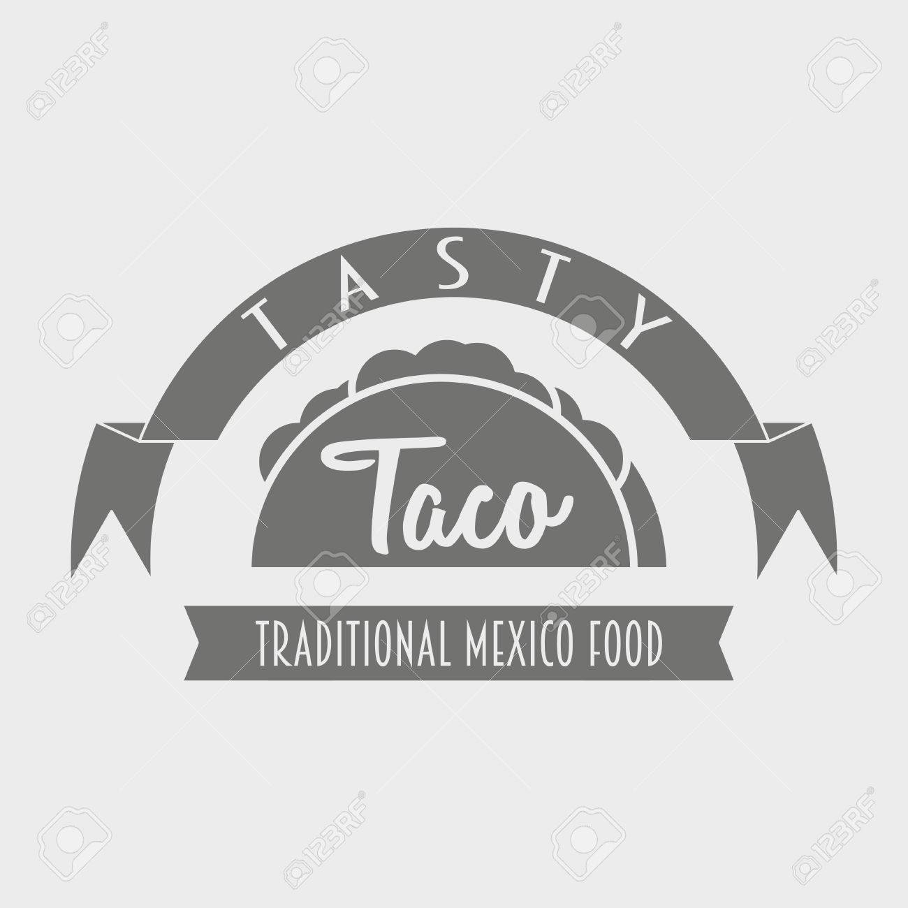 traditional mexican food tasty taco template or concept can
