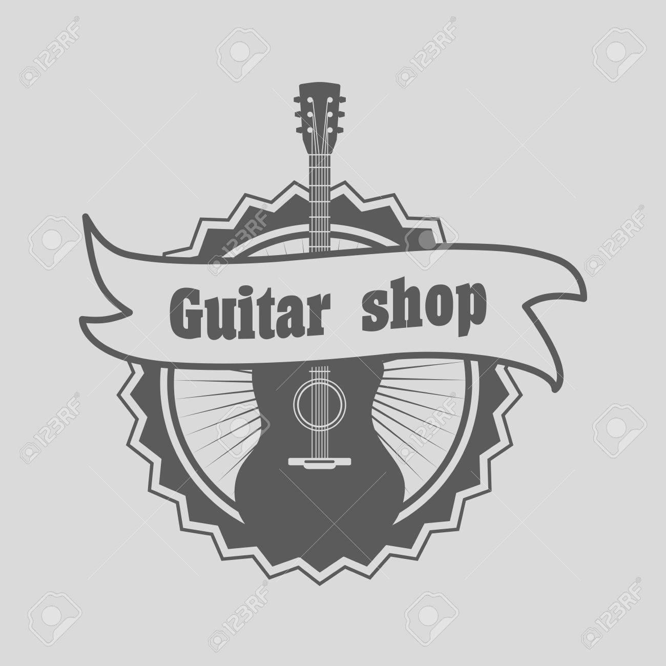Retro Estilo De Tienda De Guitarras, La Identificación O La ...