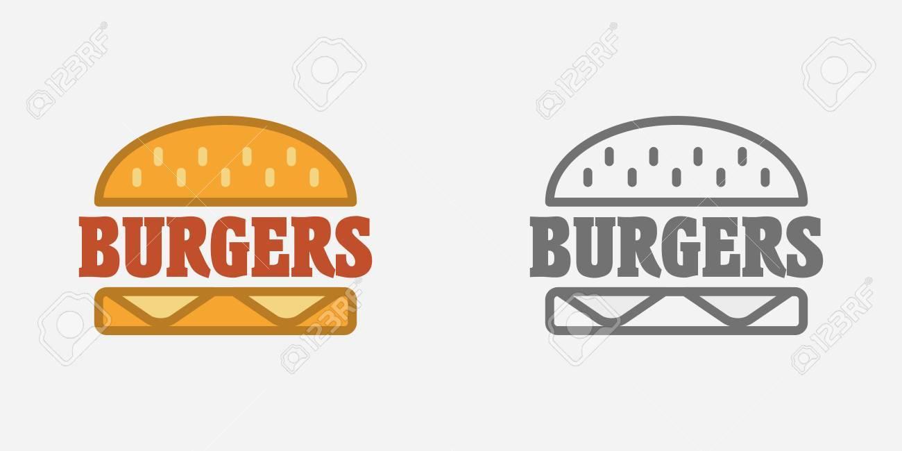 Hamburguesa, Signo De Comida Rápida, Tarjeta De Identificación O ...
