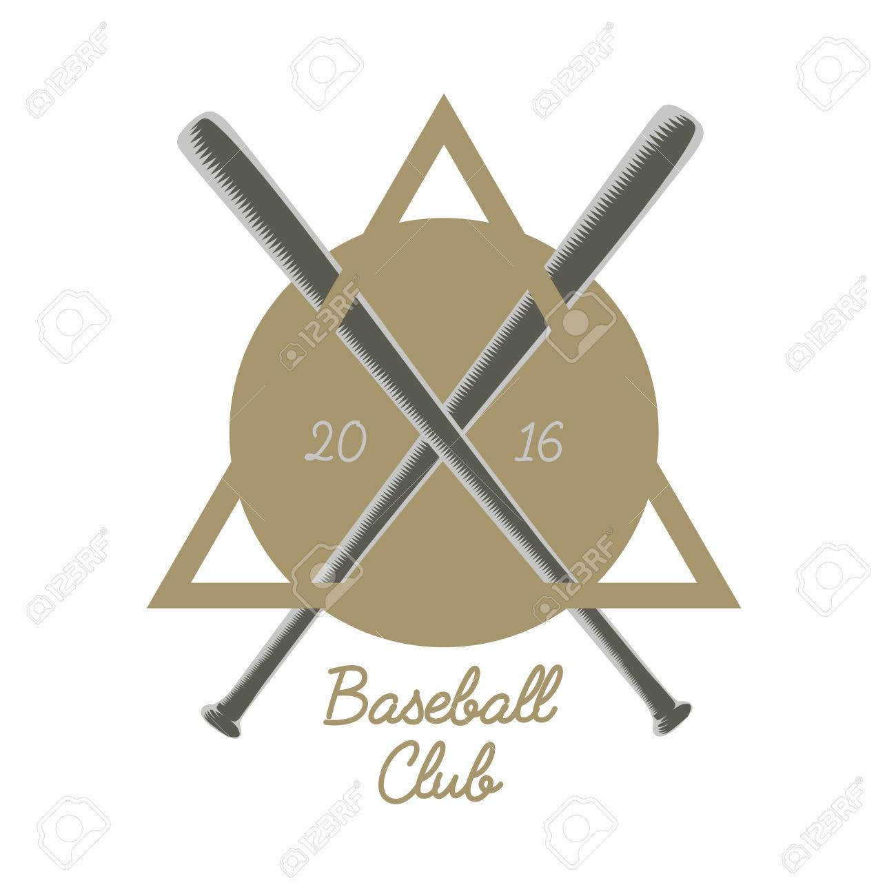 Vintage Baseball Club Logo Emblem Badge Or Design Element With