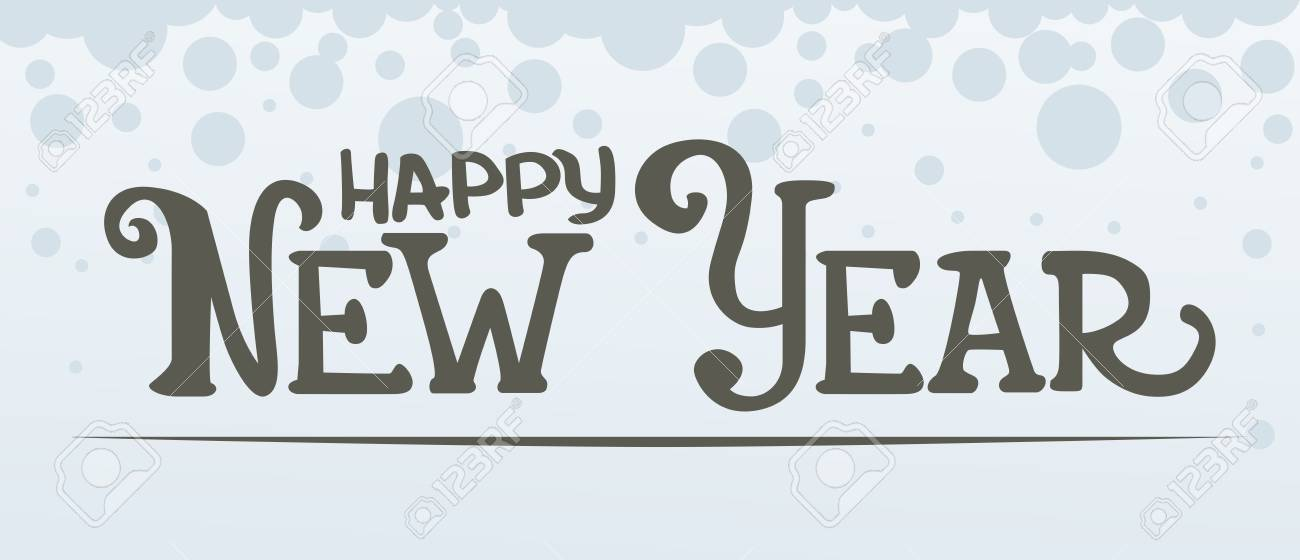 Happy New Year Lettering Design 6