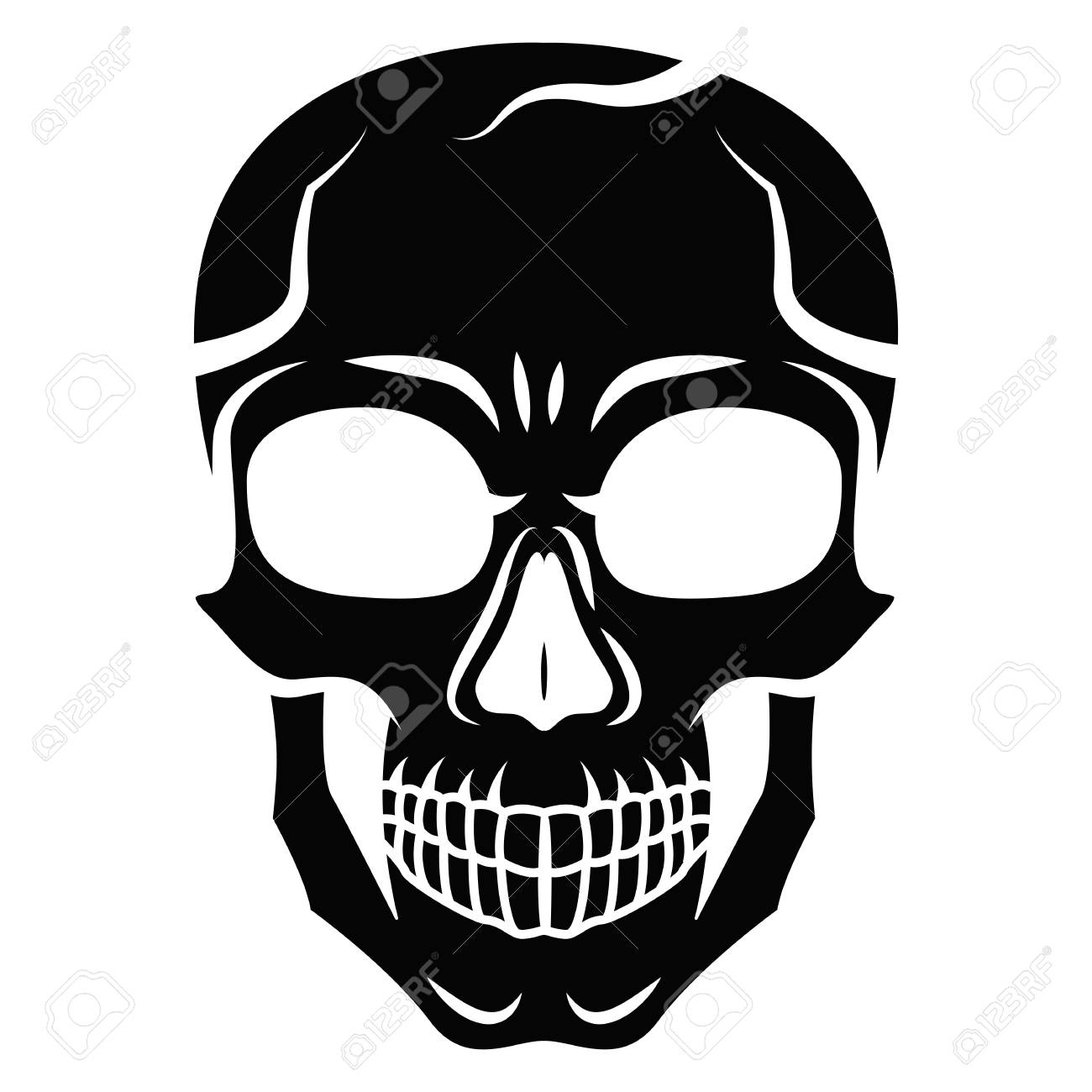 Skull Black Background White Outline Wiring Diagrams
