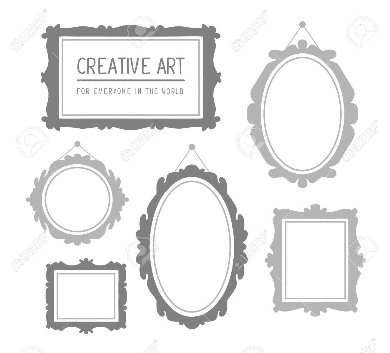 Dorable 5x7 Negro Marco De Imagen Ovalada Ornamento - Ideas ...