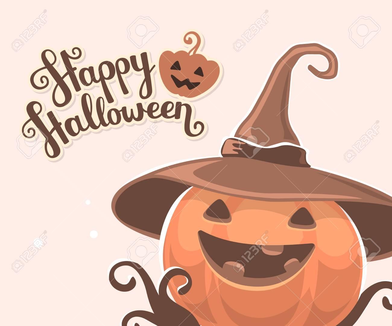 Ilustración Vectorial De Halloween De La Calabaza Decorativo De ...