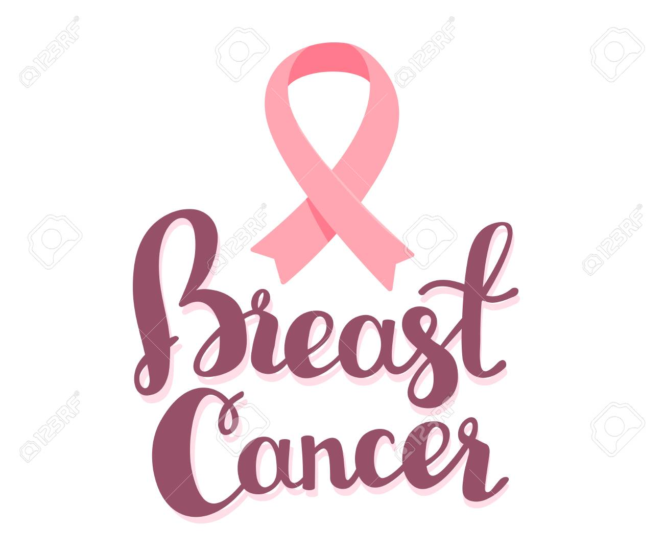 Vector illustration for breast cancer awareness month with pink vector illustration for breast cancer awareness month with pink ribbon cancer awareness symbol with text biocorpaavc Choice Image