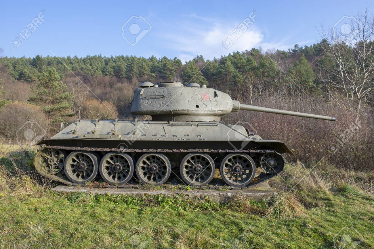 T 34 Soviet Tank From World War Ii Kapisova Near Dukla Or Svidnik Stock Photo Picture And Royalty Free Image Image 114788854