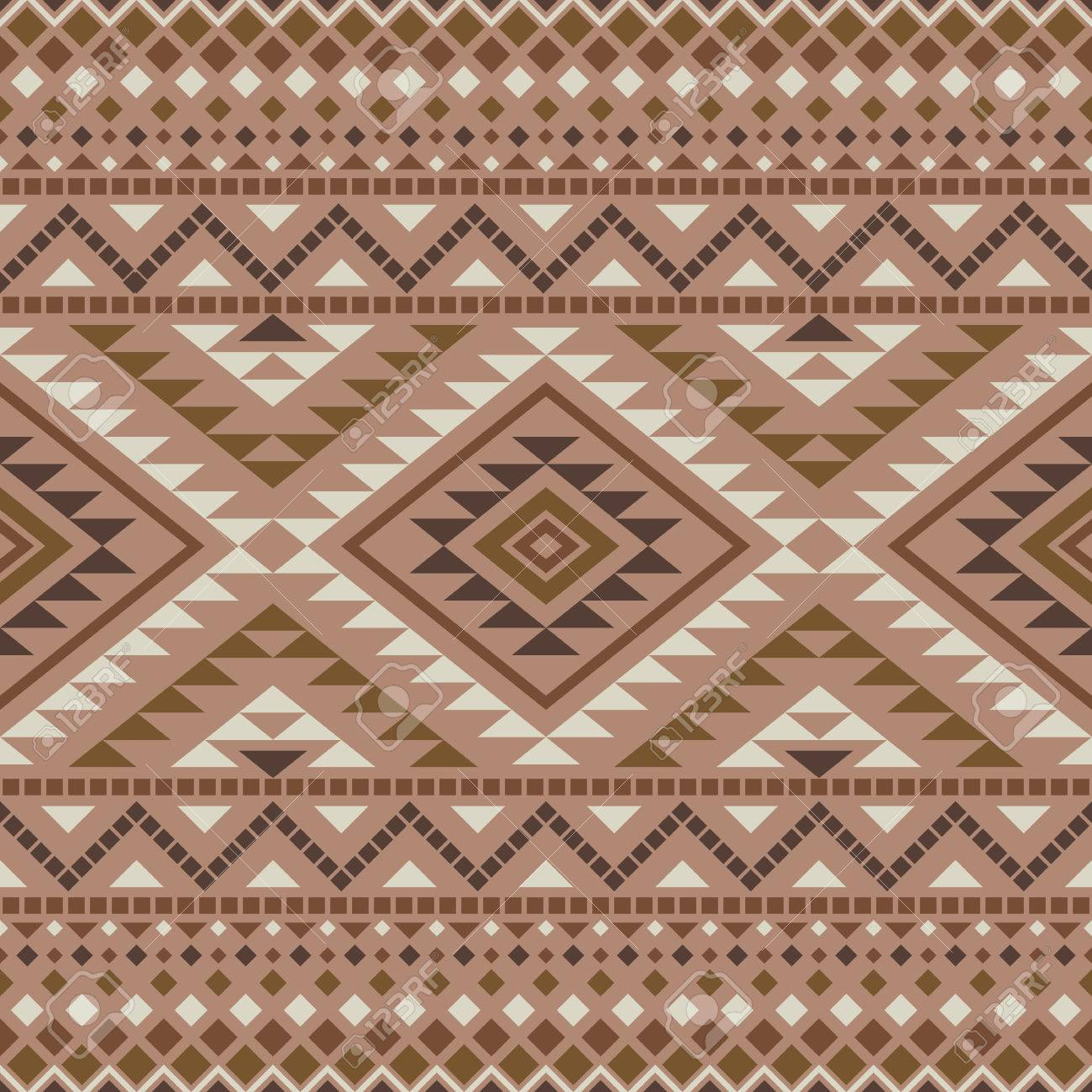 Aztec Wallpaper Seamless Pattern With Ethnic Aztec Ornament