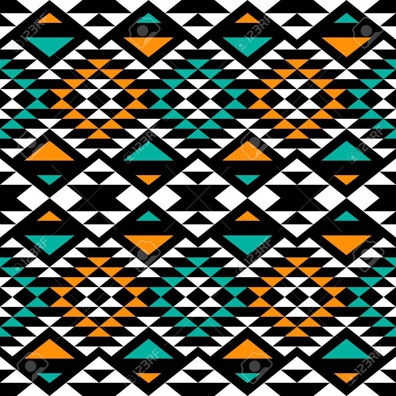 Seamless Boho Chic Fond D Ecran Abstrait Avec Des Motifs Azteques Ethniques Clip Art Libres De Droits Vecteurs Et Illustration Image 54623747