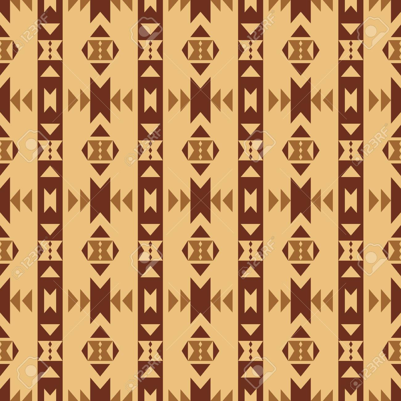Aztec Style Seamless Pattern Abstract Wallpaper With Ornament Tribal Print