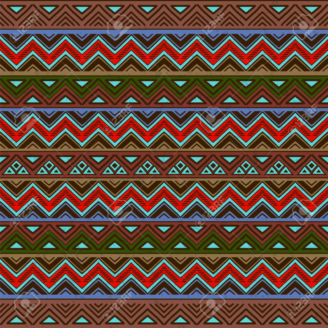 Abstract Seamless Pattern With Ethnic Aztec Ornament Boho Chic