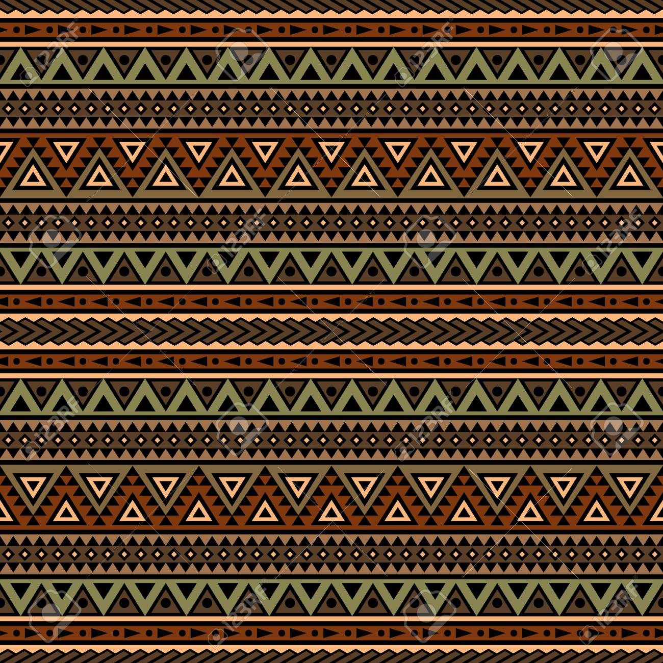 Tribal Aztec Print Template For Fabric And Paper. Seamless Pattern ...