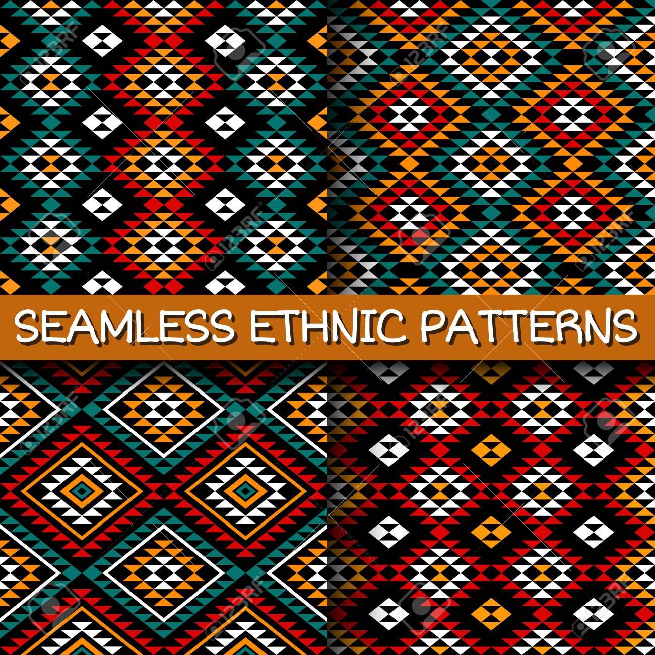 Le Style Ethnique ensemble de modèles sans couture dans le style ethnique. abstrait