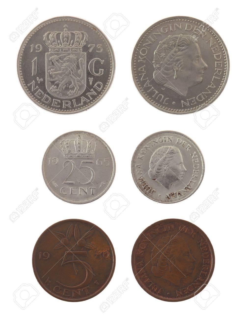 Old Dutch Gulden Münzen Darstellen Königin Juliana Der Niederlande