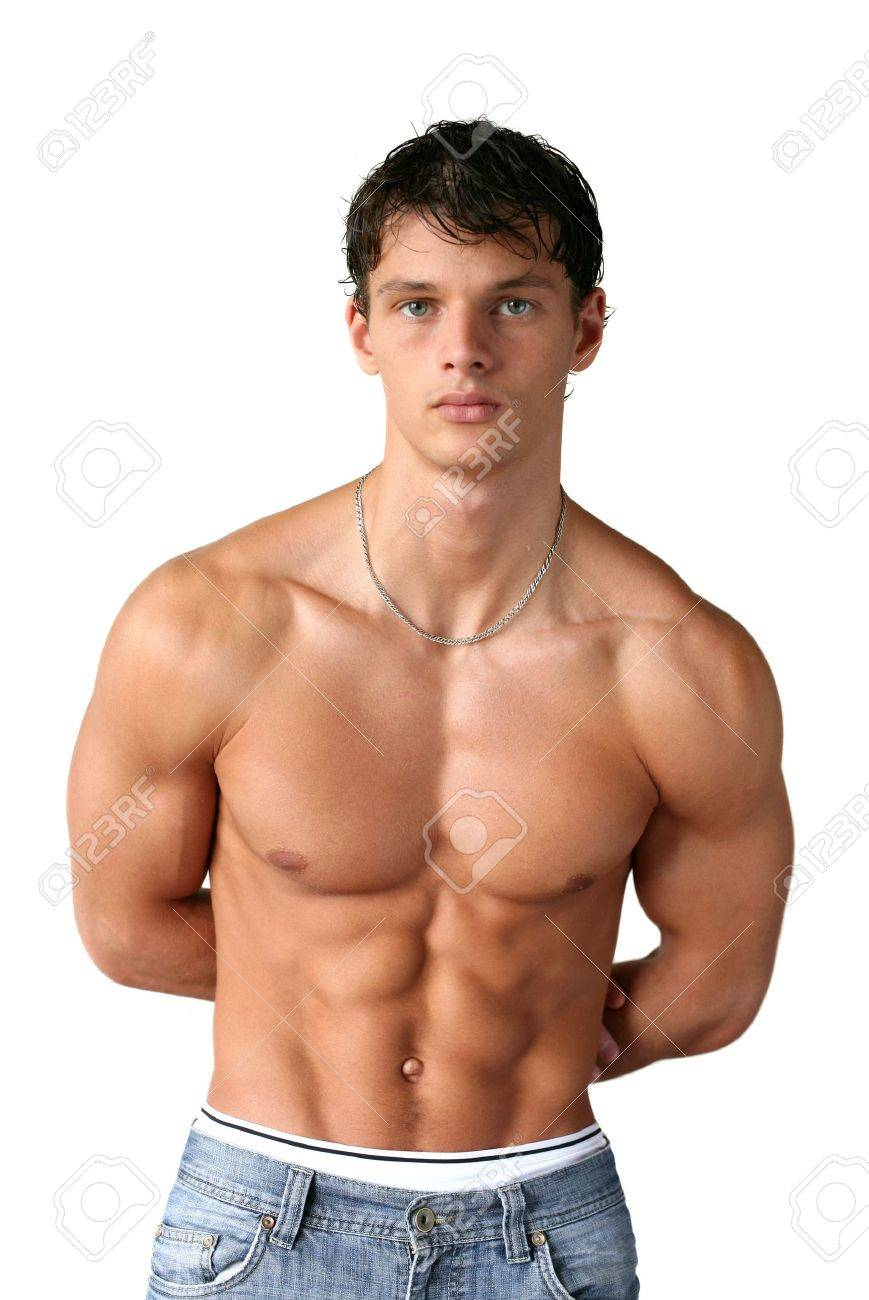 Sexy muscular man isolated on white Stock Photo - 15560139