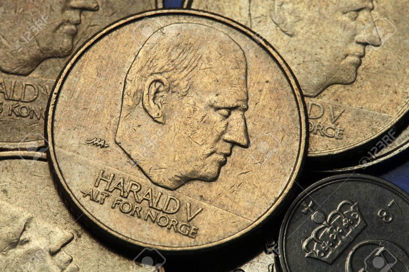 Münzen Von Norwegen König Harald V Von Norwegen Dargestellt In