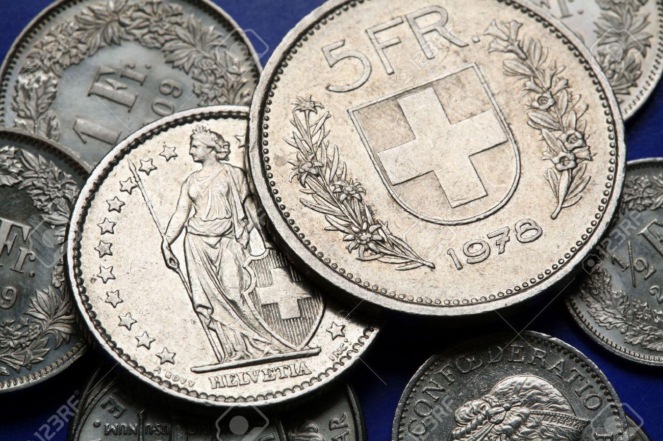 Münzen Der Schweiz Wappen Der Schweiz Dargestellt Im Schweizer