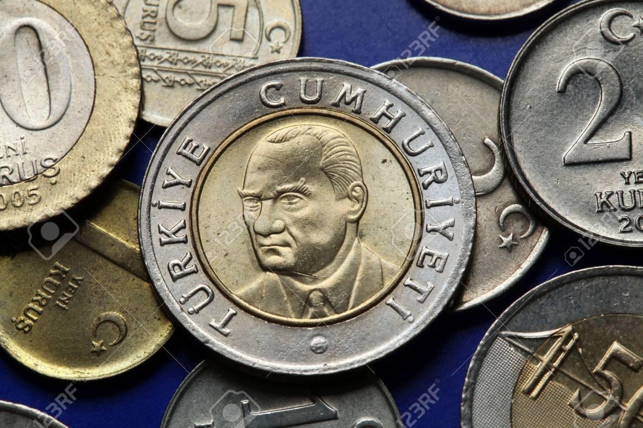 Münzen Der Türkei Mustafa Kemal Atatürk Dargestellt In Der