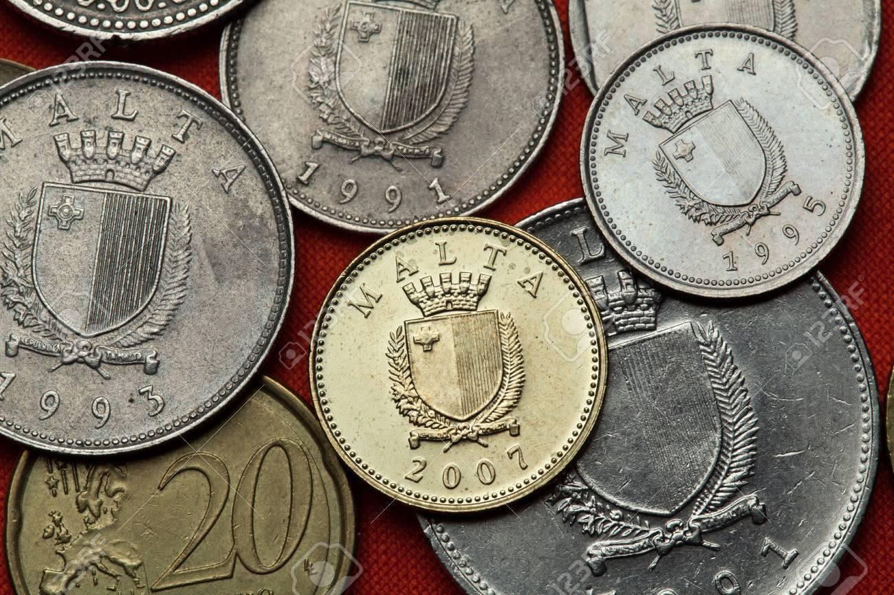 Münzen Von Malta Wappen Von Malta Dargestellt In Den Maltesischen