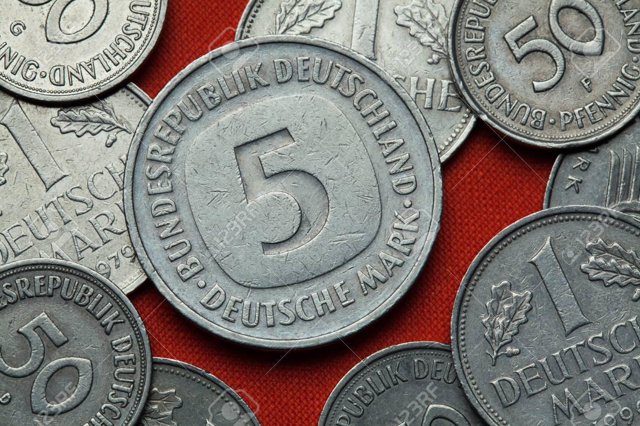 Münzen Aus Deutschland Deutsch Fünf Deutsche Mark Münze 1979