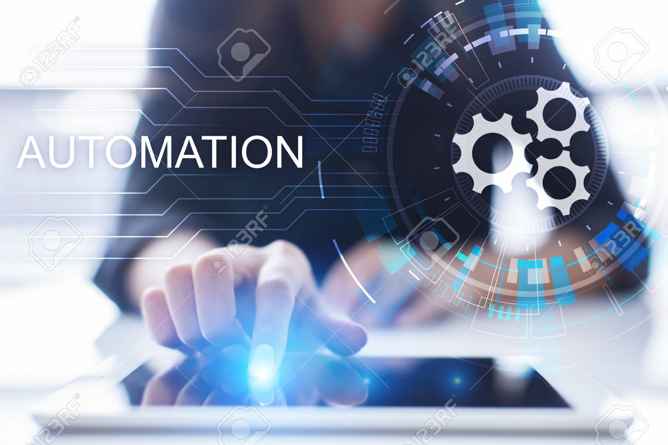Business and manufacturing process Automation, smart industry, innovation and modern technology concept. - 120268797