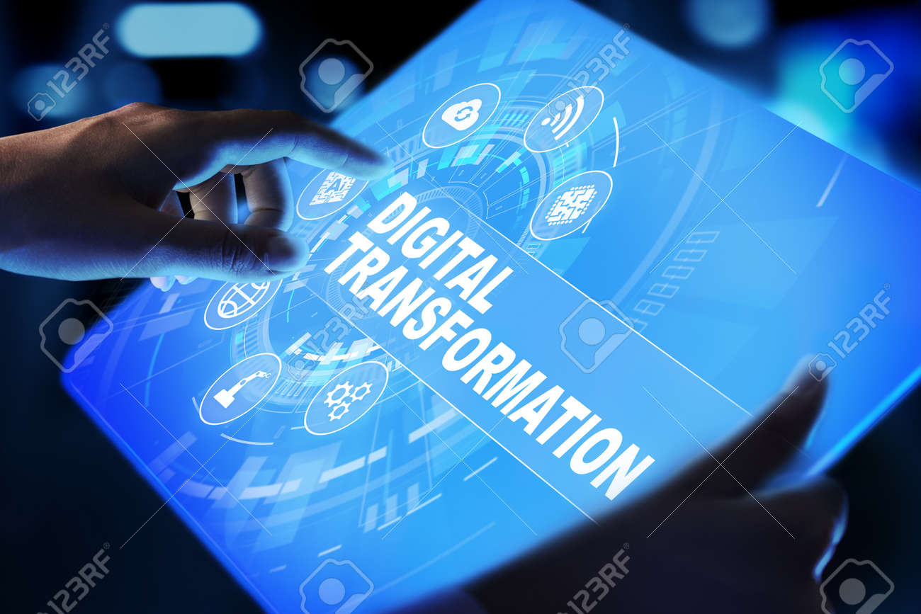 Digital transformation, disruption, innovation. Business and modern technology concept. - 155137764