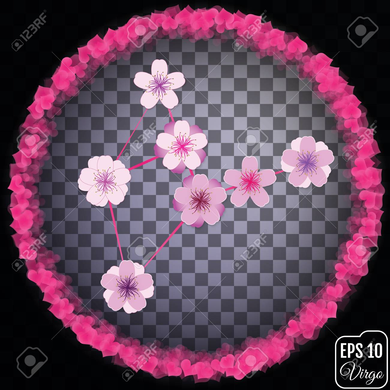 Zodiac Sign Virgo Sakura Concept Flowers Concept Constellation Royalty Free Cliparts Vectors And Stock Illustration Image 69948555