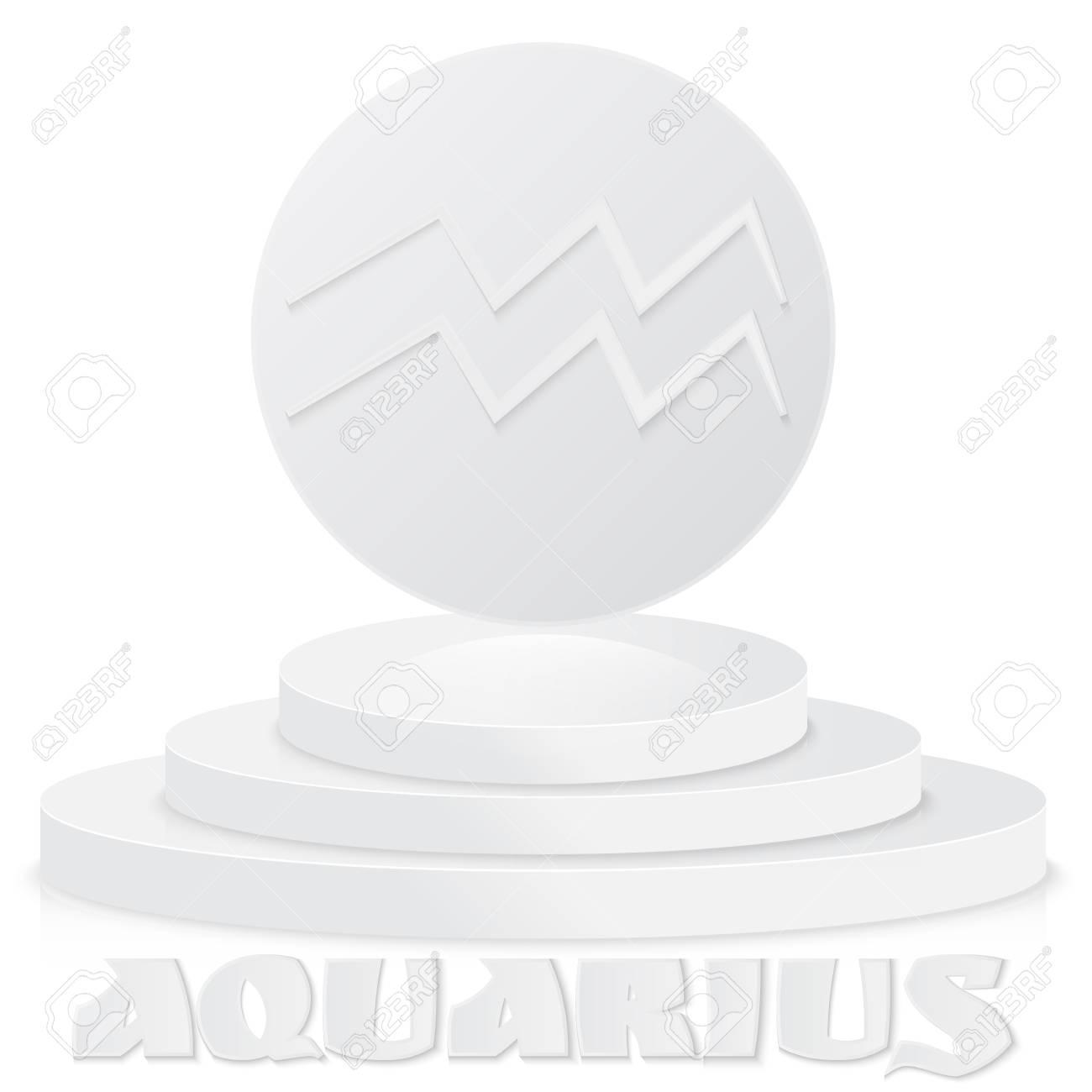 Paper Zodiac Sign Aquarius Astrological And Horoscope Symbol