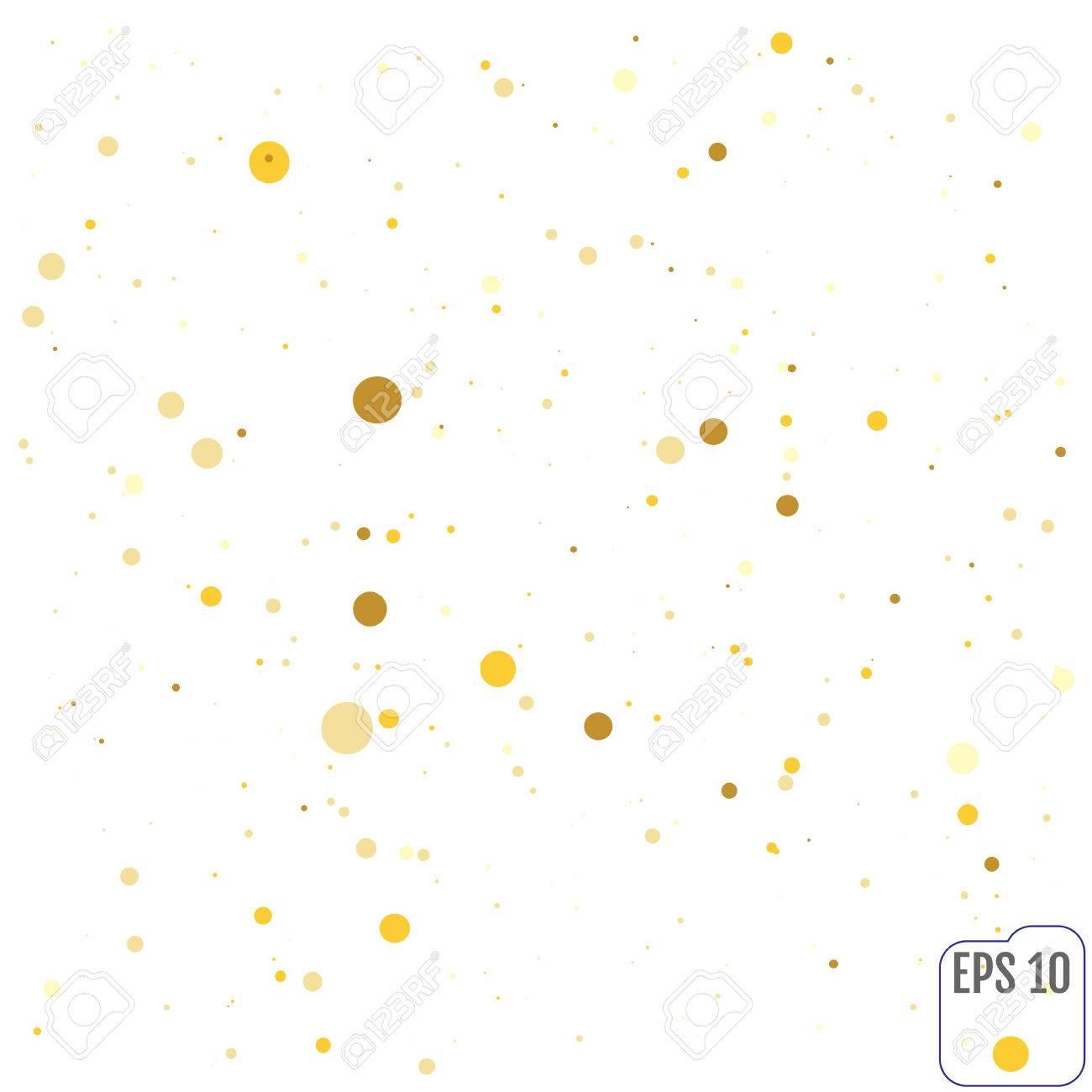 Polka Dot Gold Konfetti Clipart Textur Hintergrund Fur Hochzeit