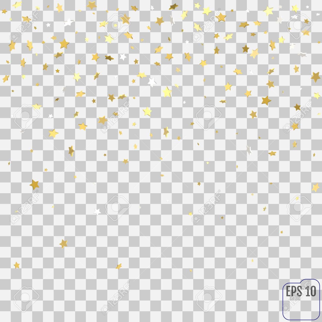 Confetti background vector golden confetti background - Gold Star Confetti Rain Festive Holiday Background Vector Golden Paper Foil Stars Falling Down Isolated
