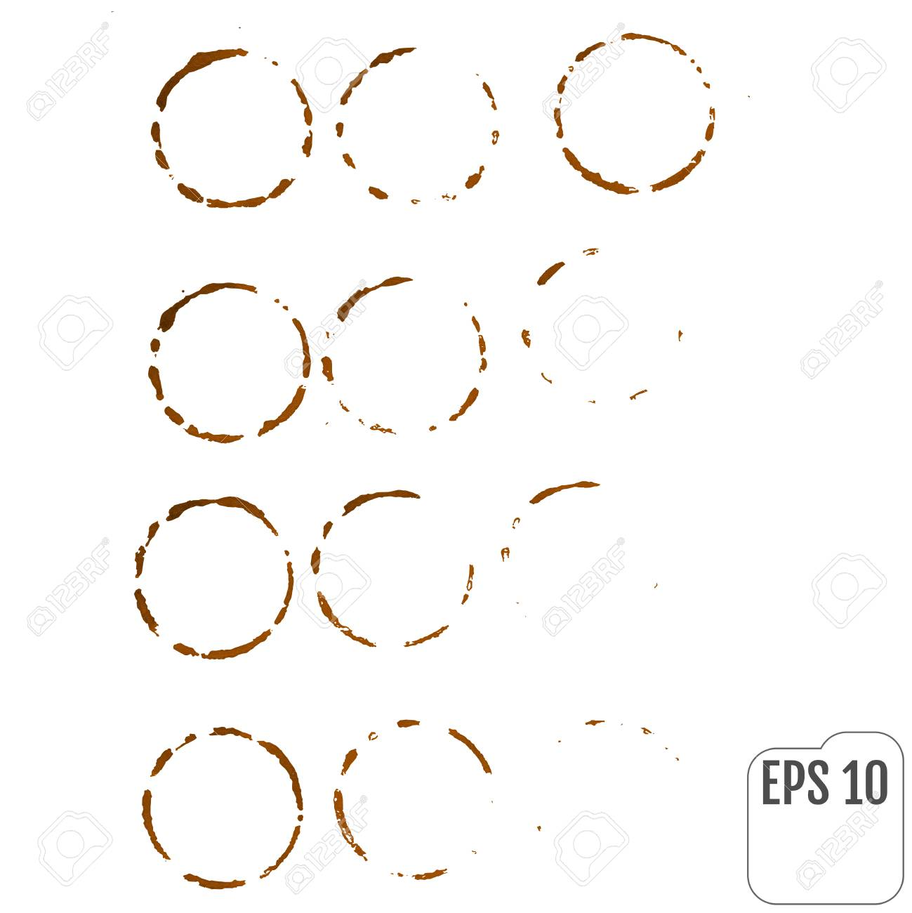 Coffee Ring Vector