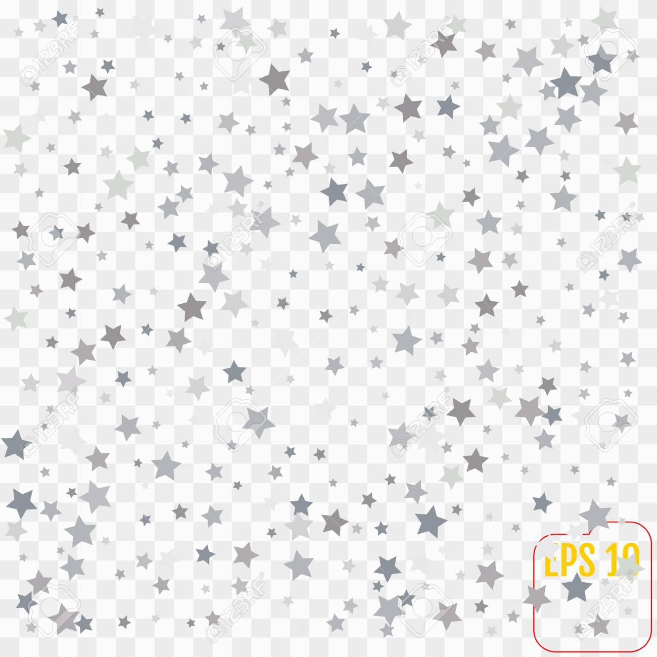 silver glitter falling stars silver sparkle star on transparent