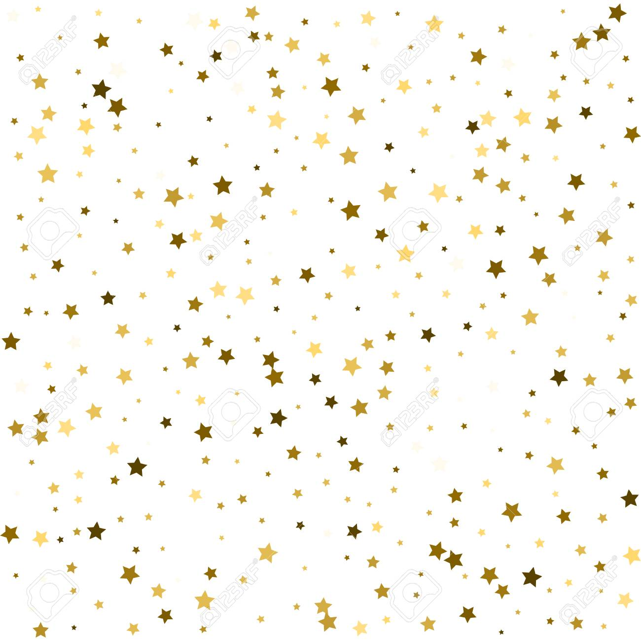 rich gold stars confetti festive vector new year christmas background glitter sparkles gold stars