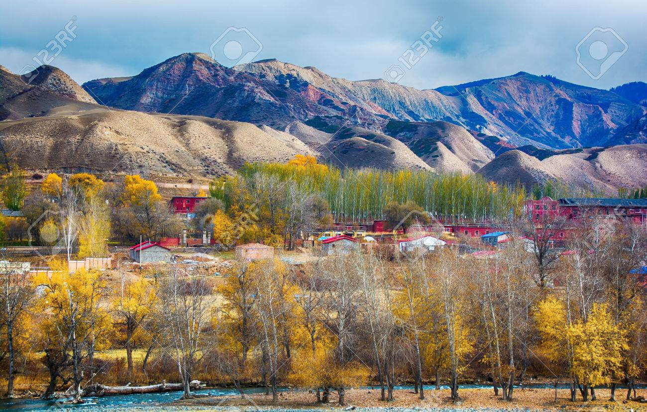 新疆ウイグル自治区の秋の風景 ...