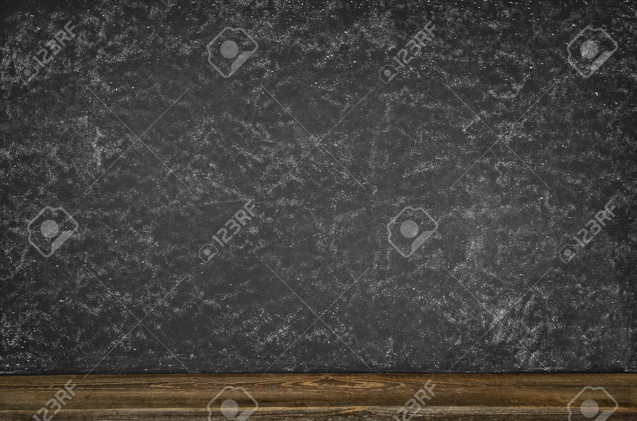 black blank chalkboard texture with room for text or drawing stock