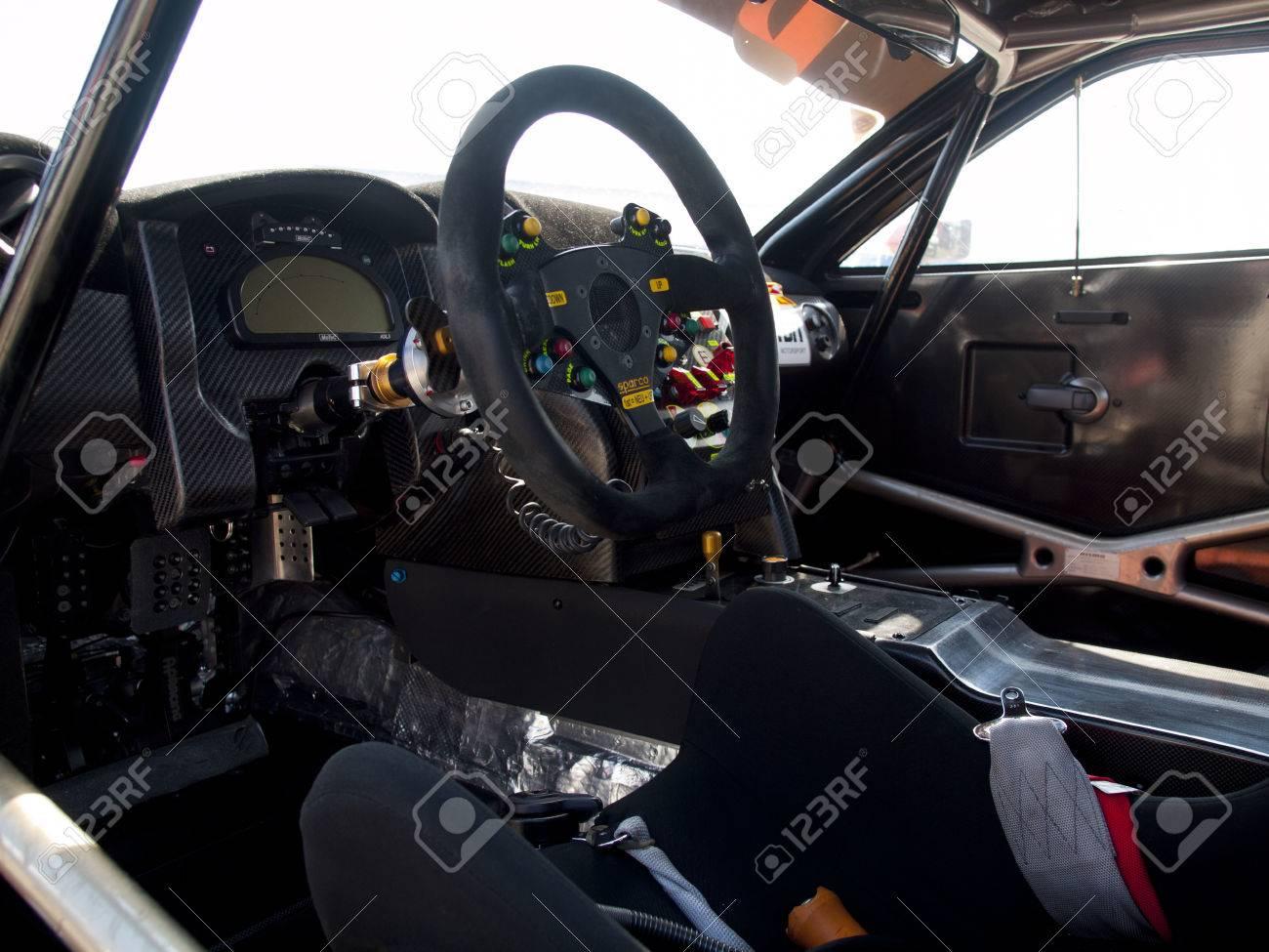 ZANDVOORT, NETHERLANDS - JULY 7: The cockpit of a McLaren GT