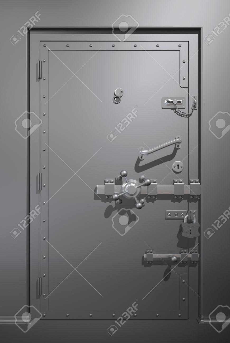 Secure metallic door Stock Photo - 8681811 & Secure Metallic Door Stock Photo Picture And Royalty Free Image ... pezcame.com